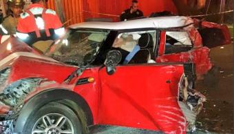 Choque en Eje Central deja un muerto y tres heridos graves
