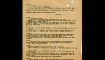 El gobierno de EU desclasificó 2 mil 891documentos relacionados con el asesinato de Kennedy