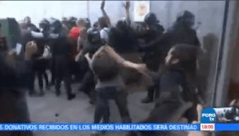 Enfrentamiento Referéndum Cataluña 800 Heridos Independentista