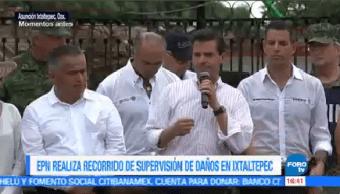 Epn No Vamos Abandonar Emergencia Oaxaca Presidente Encabeza