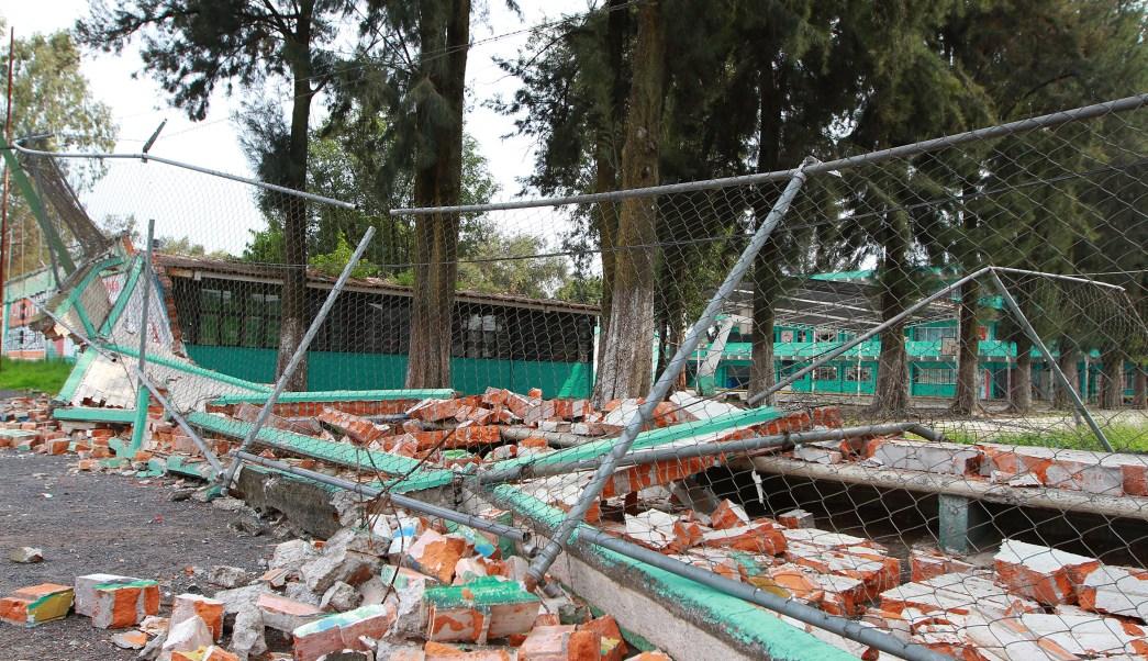 Escuela afectada por sismo del 19 de septiembre en Tláhuac