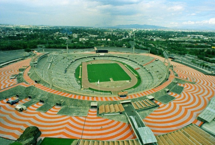 Estadio Universitario, durante los Juegos Olímpicos de México 68