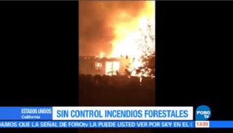 Evacuan 400 Casas Incendios Forestales California