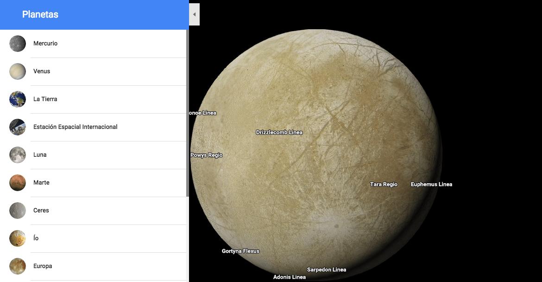 Google Maps te permite viajar a las lunas de Saturno