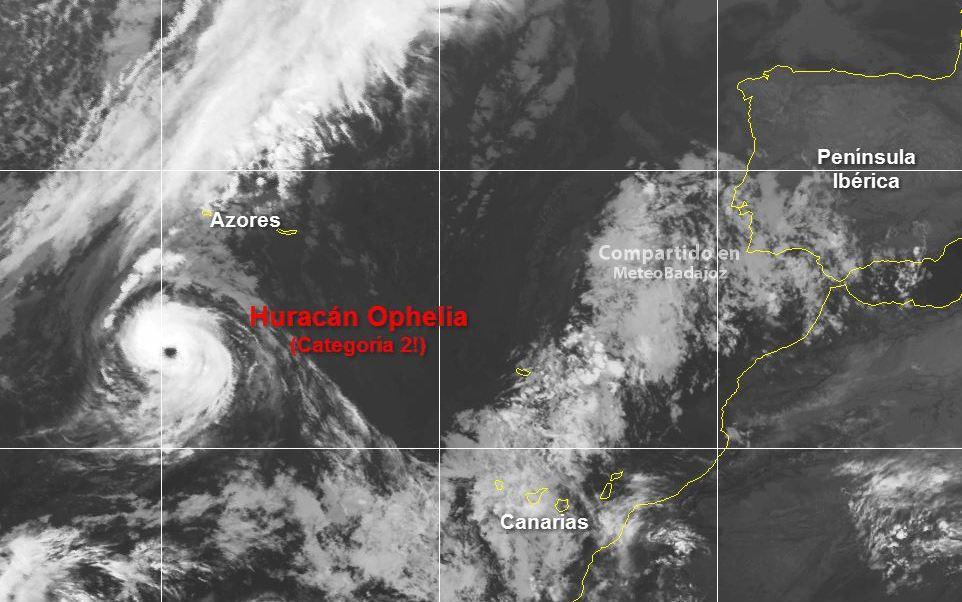 'Ofelia' alcanza la categoría 3 rumbo al archipiélago portugués de las Azores