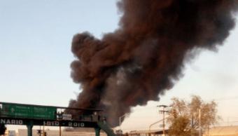reportan incendio planta recicladora tizayuca