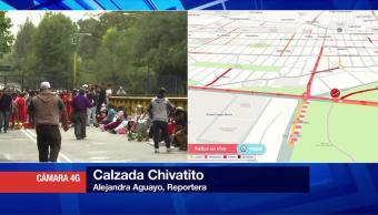 Indígenas Bloquean Calzada Chivatito Reforma Cdmx