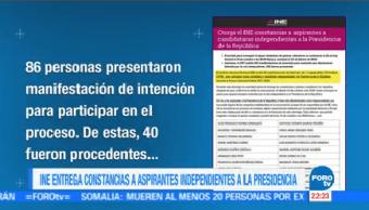 Ine Entrega Constancias Aspirantes Independientes Presidencia