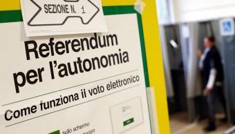 Regiones italianas de Lombardía y Véneto piden más autonomía en referéndum