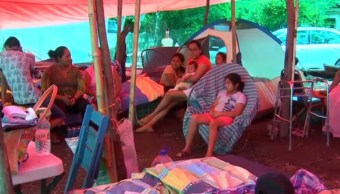damnificados albergues juchitan oaxaca campamentos Istmo