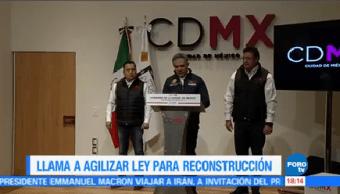 Mancera Pide Agilizar Aprobación Ley Reconstrucción Cdmx