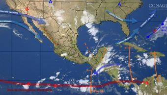 mapa con el clima para este 20 de octubre