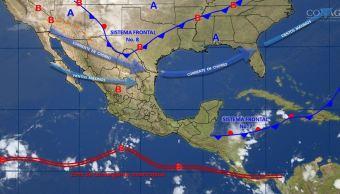 mapa con el pronostico del clima para este 31 de octubre