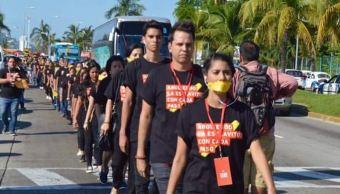 Morelia y Acapulco se unen a marchas simultaneas contra la esclavitud moderna