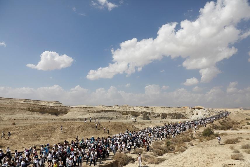 Miles de mujeres israelíes y palestinas marchan para pedir un acuerdo de paz