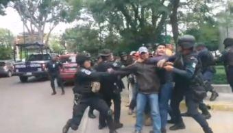 normalistas enfrentamiento policias morelia michoacan procuraduria