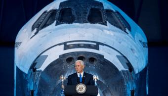 Mike Pence en el Consejo Nacional Espacial en Chantilly