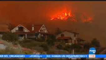 Miles Bomberos Tratan Controlar Incendios Forestales Portugal España