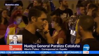 Miles Catalanes Van Huelga Incidente Referéndum Alberto Peláez