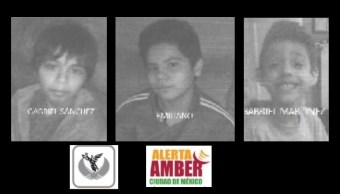 Activan alerta amber para localizar a tres menores extraviados en Xochimilco