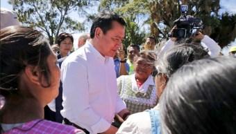Municipio afectado por sismos no dejarán de tener apoyos: Osorio