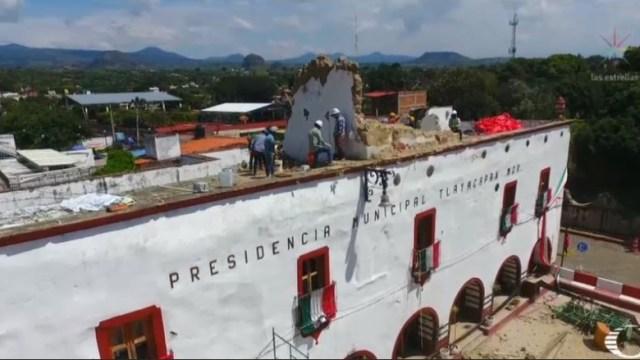 palacio municipal de tlayacapan tiene daños tras el sismo