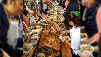 preparan el paste mas grande del mundo en real del monte