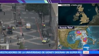 Policía Londres Investiga Atropellamiento Incidente Transito