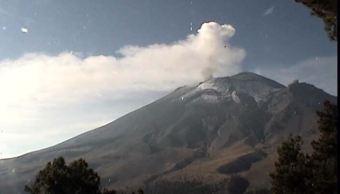 popocatepetl emite exhalaciones horas cenapred volcan