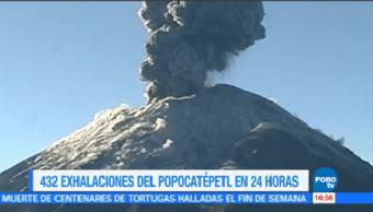 Popocatépetl Mantiene Actividad Constante Captan Nueva Exhalación