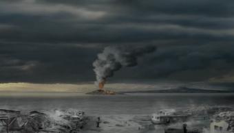 Nueva Zelanda, Erupción Volcánica, Animación 3D, Volcán, Erupción, 3D