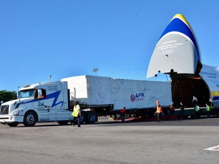 Aterrizan 2 turbogeneradores para refinería de Salina Cruz