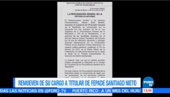 Remueven Cargo Titular Fepade Santiago Nieto Pgr Trasgredió Código Conducta