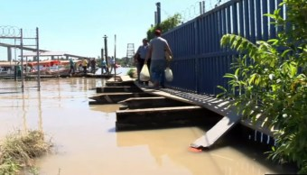 rio panuco desborda en tampico tamaulipas