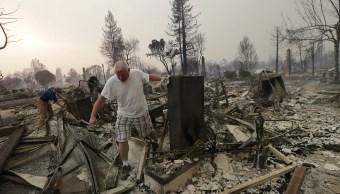14 incendios forestales devastan el norte de California