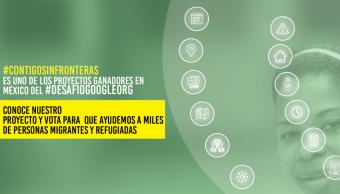 Portada del sitio web Sin Fronteras IAP, ONG que apoya a refugiados
