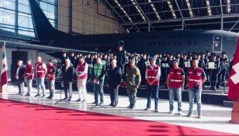 ingenieros suizos, ceremonia despedida, Fuerza México, sismo México
