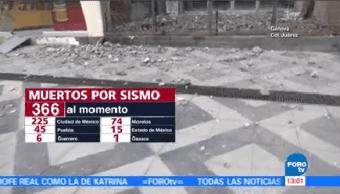 Suman 366 Muertos Sismo 19 Septiembre México Cdmx
