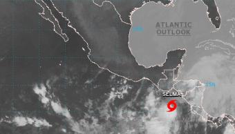 Tormenta tropical Selma frente a costas de Nicaragua