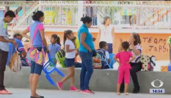 Unicef Dona Aulas Provisionales Estudiantes Puebla