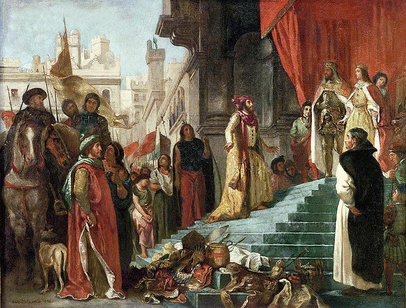Colón con Isabel I