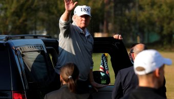 shinzo abe recibe trump ronda golf
