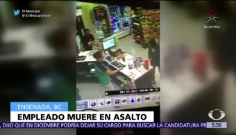 Muere empleado durante asalto en Ensenada, Baja California