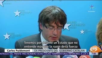 Puigdemont reaparece en Bruselas con miembros de su Gabinete