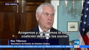 EU luchará contra la amenaza terrorista: Tillerson