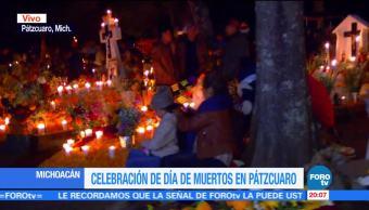 Panteón de Pátzcuaro, lleno de luz y cempasúchil