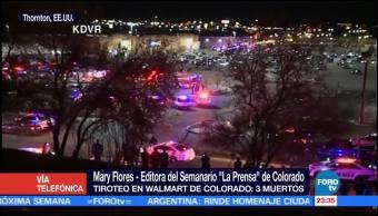 Suman tres muertos por tiroteo en Colorado