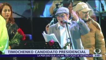'Timochenko', líder de las extintas FARC, será candidato presidencial en Colombia