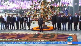Mancera rinde homenaje a víctimas de sismo en el Zócalo capitalino