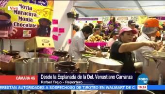 Realizan la Feria del Pan de Muerto y del Chocolate en la Venustiano Carranza